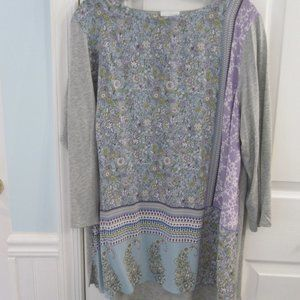 J.Jill Lovely Tunic Top Softest Colors Size XL